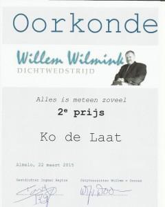 Willemwilminkwedstrijdoorkonde2015